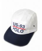 POLO RALPH LAUREN(ポロ バイ ラルフローレン)の古着「US-93キャップ」|ネイビー×ホワイト