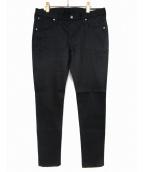 FACTOTUM(ファクトタム)の古着「リジットスキニーデニムパンツ」|ブラック