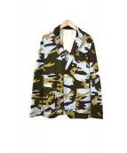 HBNS(ハバノス)の古着「カモフラジャケット」|スカイブルー