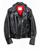 Lewis Leathers(ルイスレザーズ)の古着「ライトニング レザージャケット」|ブラック