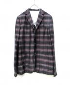 MANDO(マンドー)の古着「デザインジャケット」|グレー×ブラウン