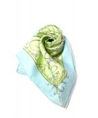 HERMES(エルメス)の古着「プチスカーフ」|スカイブルー