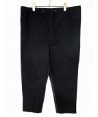 EN ROUTE(アンルート)の古着「ミックスライン2プリーツンパンツ」|ブラック