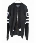 HYDROGEN(ハイドロゲン)の古着「スタージップアップジャケット」|ブラック