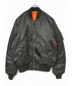 ALPHA INDUSTRIES(アルファ インダストリーズ)の古着「MA-1ジャケット」|カーキ