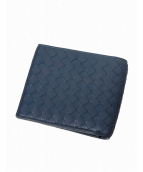 BOTTEGA VENETA(ボッテガヴェネタ)の古着「2つ折り財布」|ネイビー