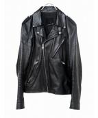 LAD MUSICIAN(ラッドミュージシャン)の古着「レザーライダースジャケット」|ブラック