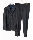 BARBA(バルバ)の古着「ウールギャバセットアップスーツ」|ライトグレー