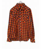 Engineered Garments(エンジニアードガーメンツ)の古着「チェックウエスタンシャツ」|オレンジ