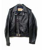 Schott(ショット)の古着「ワンスターライダースジャケット」|ブラック