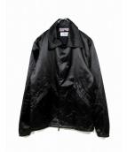 Bianca Chandon(ビアンカシャンドン)の古着「カタカナロゴ刺繍コーチジャケット」|ブラック