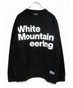 WHITE MOUNTAINEERING(ホワイトマウンテニアリング)の古着「ロゴスウェット」|ブラック
