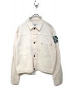LEVIS(リーバイス)の古着「90sステッチデニムジャケット」|ホワイト