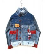Desigual(デシグアル)の古着「リメイクデニムジャケット」|インディゴ