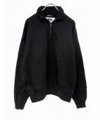 AURALEE(オーラリー)の古着「ハーフジップスウェット」|ブラック