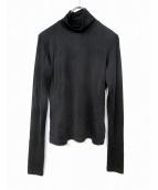 MM6(エムエムシックス)の古着「タートルネックジャージーカットソー」|ブラック