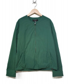 GLOVER ALL(グローバーオール)の古着「ノーカラージャケット」|グリーン