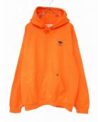 FORTY PERCENTS(フォーティーパーセント)の古着「プルオーバーパーカー」 オレンジ
