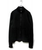 COMME des GARCONS HOMME(コムデギャルソンオム)の古着「スウェットジャケット」|ブラック
