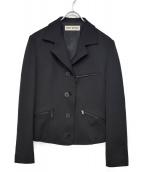 ISSEY MIYAKE(イッセイミヤケ)の古着「ポンティングデザインジップジャケット」|ブラック