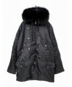 AVIREX(アヴィレックス)の古着「N-3Bタイプコート」|ブラック