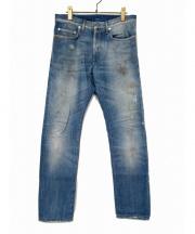 Dior Homme(ディオール オム)の古着「ダスト加工デニムパンツ」|スカイブルー