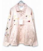 FLAGSTUFF(フラッグスタッフ)の古着「スカジャン」|ピンク