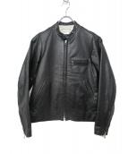 EEL(イール)の古着「レザーライダースジャケット」 ブラック