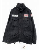 IRON HEART(アイアンハート)の古着「ミリタリージャケット」|ブラック