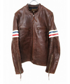 Buco THE REAL McCOY'S(ブコ ザ リアルマッコイズ)の古着「ホースレザーレザージャケット」|ブラウン