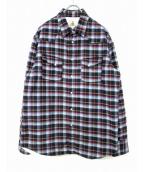 GUY ROVER(ギローバー)の古着「シャツジャケット」|ブルー×ネイビー