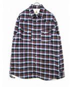 GUY ROVER(ギローバ)の古着「シャツジャケット」|ブルー×ネイビー
