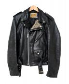 SCHOTT BROS.(ショットブロス)の古着「スタッズライダースジャケット」|ブラック