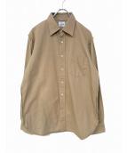 Needles(ニードルス)の古着「レースアップオーバーサイズシャツ」 ベージュ