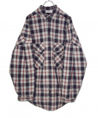 VOTE MAKE NEW CLOTHES(ヴォートメイクニュークローズ)の古着「MARVEL BIG SHIRTS W/QUILT」|ホワイト×レッド
