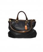 STEFANOMANO(ステファノマーノ)の古着「2WAYレザーバッグ」|ブラック