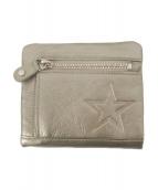 agnes b voyage(アニエスベーボヤージュ)の古着「レザー2つ折り財布」|シャンパンゴールド