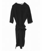 EBURE(エブール)の古着「ウールワンピース」|ブラック