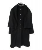 agnes b(アニエスベ)の古着「ノーカラーコート」 ブラック