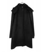 agnes b homme(アニエスベーオム)の古着「フーデッドコート」|ブラック