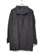 OURET(オーレット)の古着「スタンドカラーコート」|ブラック