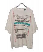 Maison MIHARA YASUHIRO(メゾンミハラヤスヒロ)の古着「半袖デザインTシャツ」|ホワイト