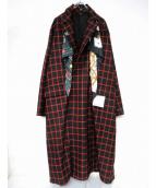Maison MIHARA YASUHIRO(メゾンミハラヤスヒロ)の古着「デザインコート」|レッド×ブラック