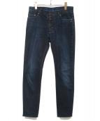 Martin Margiela 10(マルタンマルジェラ10)の古着「コーティングデニムパンツ」|ブルー