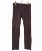Dior Homme(ディオールオム)の古着「ストレッチスキニーパンツ」|ボルドー