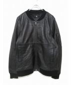 CAMBIO(カンビオ)の古着「ラムレザージャケット」|ブラック