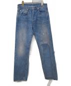 LEVIS VINTAGE CLOTHING(リーバイス ヴィンテージ クロージング)の古着「ヴィンテージ加工デニムパンツ」|スカイブルー