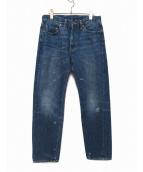 LEVIS VINTAGE CLOTHING(リーバイス ヴィンテージ クロージング)の古着「ヴィンテージ加工デニムパンツ」 ブルー