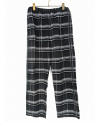 UNUSED(アンユーズド)の古着「CHECK EASY PANTS 」|ブラック