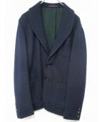 THE GIGI(ザ・ジジ)の古着「ショールカラーストライプジャケット」|ネイビー